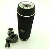 Портативная Bluetooth Колонка HOPESTAR P11 + Фонарь + Велосипедное Крепление Чёрный, фото 5