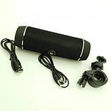 Портативная Bluetooth Колонка HOPESTAR P11 + Фонарь + Велосипедное Крепление Чёрный, фото 6