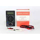 Мультиметр тестер вольтметр амперметр DT-838 + термопара + щупы + крона, фото 4
