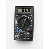 Цифровой Профессиональный мультиметр DT-830B тестер вольтметр, фото 3