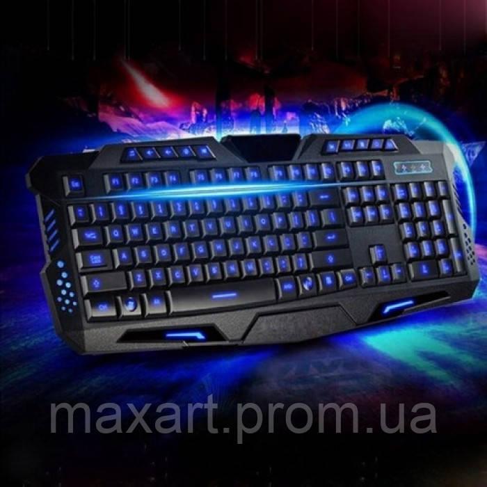 Игровая проводная русская клавиатура M200 с подсветкой USB