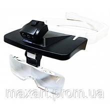 Бинокуляр очки бинокулярные со светодиодной подсветкой TH-9203