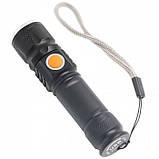 Ручной Фонарь X-Balog ST-515, T6 зарядка от USB фонарик, фото 3