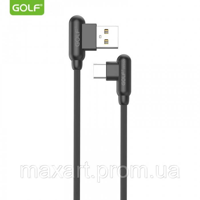 Шнур для зарядки Type-C USB GOLF GC-45 кабель 2,4A Чёрный
