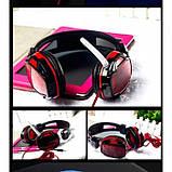 Игровые проводные наушники с микрофоном SY833MV Pro Soyto HIFI Красные, фото 3