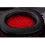 Игровые проводные наушники с микрофоном SY833MV Pro Soyto HIFI Красные, фото 4