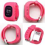 Умные Smart часы для детей с GPS трекером Baby Watch Q50 Розовые, фото 5