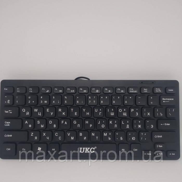 Клавиатура мини проводная USB UKC K100 Чёрная