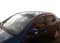 Renault Logan III 2013↗ гг. Ветровики SD (4 шт, SIM)