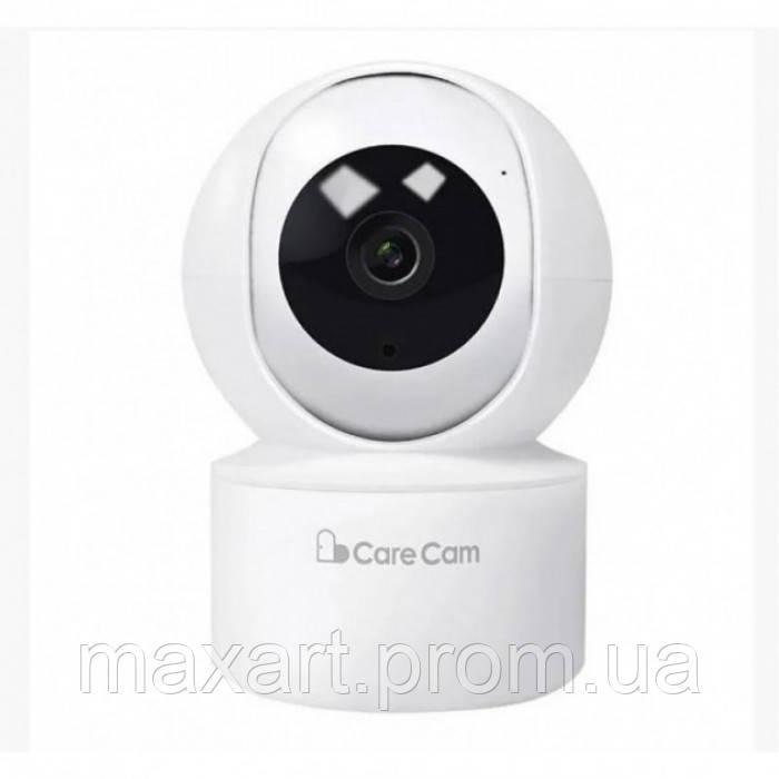 Беспроводная поворотная IP камера видеонаблюдения WiFi microSD Care Cam 23ST Белая