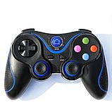Беспроводной Bluetooth джойстик Gen Game V8 Чёрный с синим, фото 2