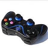 Беспроводной Bluetooth джойстик Gen Game V8 Чёрный с синим, фото 3