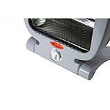 Обогреватель кварцевый инфракрасный Domotec MS 5952 2 режима 800 Вт Серый, фото 2