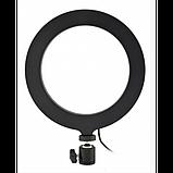 Кольцевая LED лампа 16 см селфи кольцо для блогера СО ШТАТИВОМ, фото 3