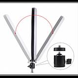 Кольцевая LED лампа 16 см селфи кольцо для блогера СО ШТАТИВОМ, фото 4