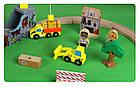 Железная деревянная дорога детская, EdWone, 70 деталей, 3+ (Brio, Ikea) E16A09, фото 6