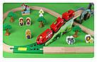 Железная деревянная дорога детская, EdWone, 70 деталей, 3+ (Brio, Ikea) E16A09, фото 5
