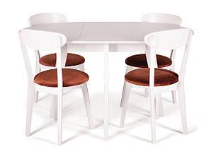 Обеденный комплект: стол Марс D100 (+40), круглый + стулья Гелена New/4шт Pavlyk™