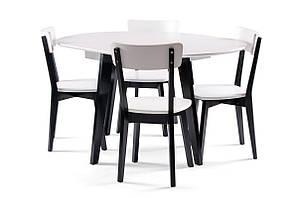 Обеденный комплект:стол Марс D100 (+40), круглый + стулья Тор 4шт Pavlyk™