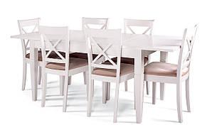 Обеденный комплект: Стол Прага 140(+60)х80 (раскладной) + стулья Икс/4шт Pavlyk™