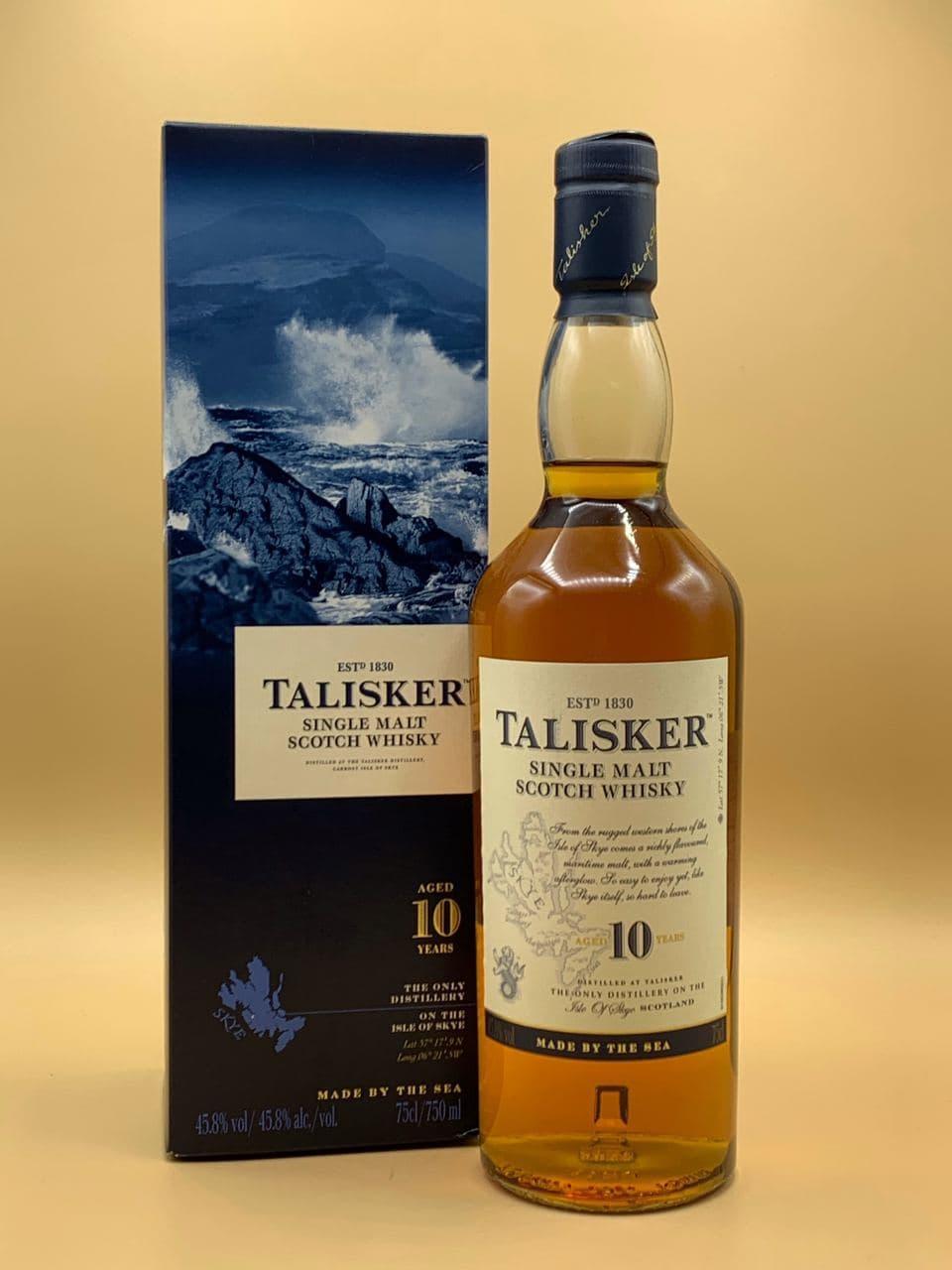 Виски Talisker 10 y.o. 0.75L Талискер 10 лет 0.75л