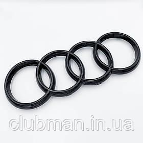 Эмблема передняя решетки радиатора AUDI (Ауди) 273*94 мм Черный-глянец