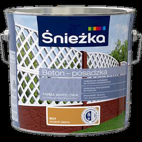 Краска для бетона акриловая Sniezka BETON-POSADZKA орех светлый В01 3л PL