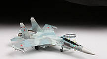 Учебно-боевой самолёт Су-27УБ. Сборная модель в масштабе 1/72. ZVEZDA 7294, фото 3