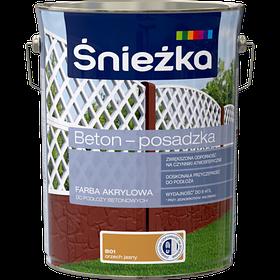 Краска для бетона акриловая Sniezka BETON-POSADZKA орех светлый В01 5л PL