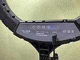 Кільцева led лампа діаметром 45см з пультом і 3 держателями зі штативом LED-YQ-460B ( 45W 416 LED 6000LM ), фото 9