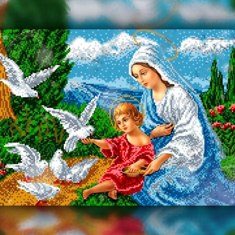 Алмазная вышивка мозаика The Wortex Diamonds Религия 11 40x50 TWD60011L полная зашивка квадратные стразы.