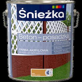 Краска для бетона акриловая Sniezka BETON-POSADZKA орех светлый В01 10л PL