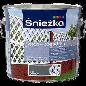 Краска для бетонных полов акриловая  BETON-POSADZKA ГРАФИТ В07 3л PL