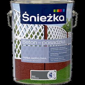 Краска для бетонных оснований акриловая BETON-POSADZKA ГРАФИТ В07 5л PL