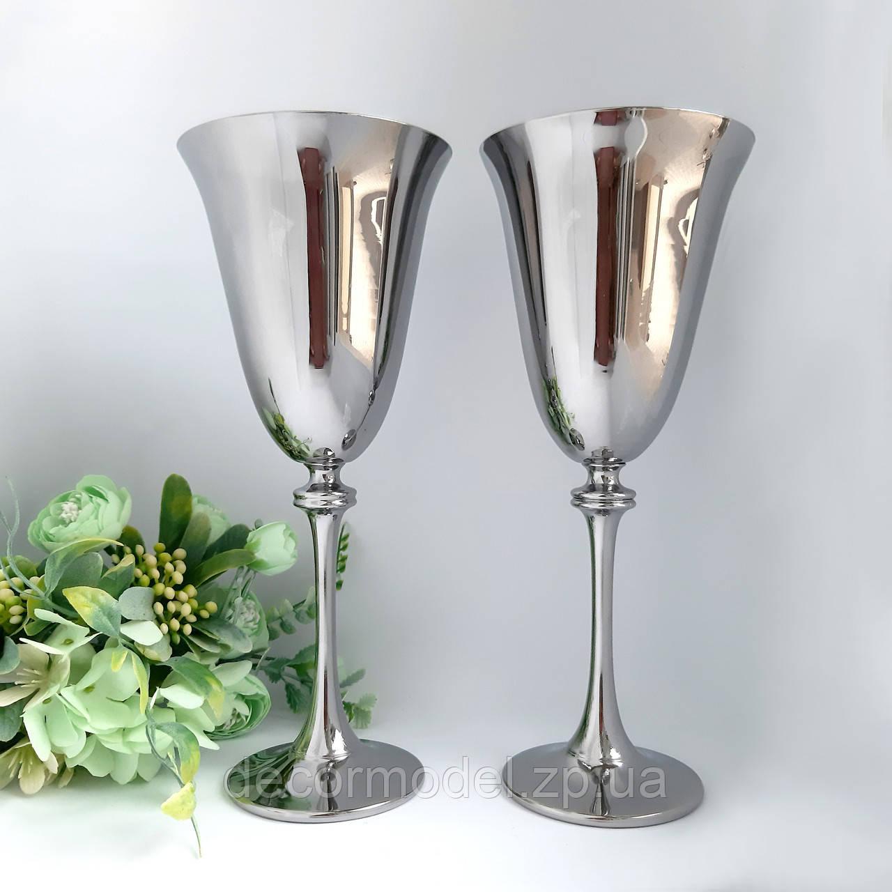 Набор бокалов для вина Bohemia Asio 350 мл хром