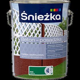 Краска для бетона акриловая Sniezka BETON-POSADZKA ЗЕЛЕНЫЙ В05 5л PL