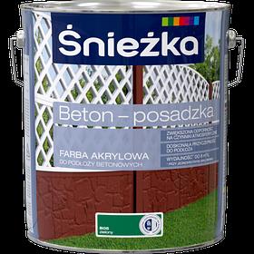Краска для бетона акриловая Sniezka BETON-POSADZKA ЗЕЛЕНЫЙ В05 10л PL