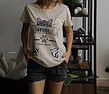Домашний костюм пижама с шортами авокадо, фото 3