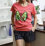 Домашний костюм пижама с шортами авокадо, фото 4
