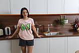Домашний костюм пижама с шортами авокадо, фото 5