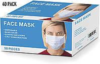 Маски защитные для лица  50 шт, фото 1
