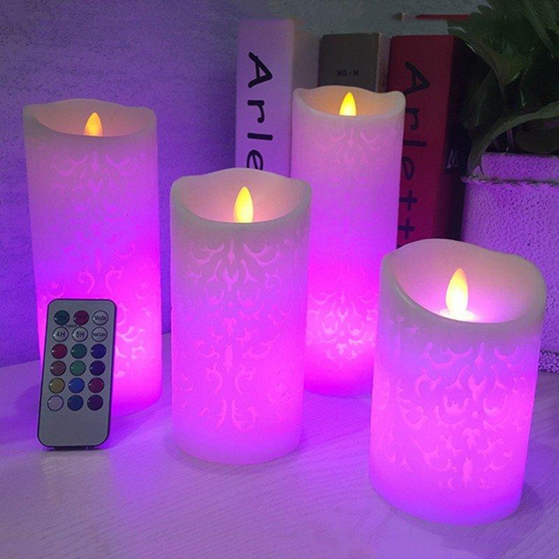 Восковые RGB Led-свечи Акция (активное пламя)