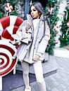 Жіноча зимова подовжена куртка на блискавці з об'ємним капюшоном (р. 42-46) 8401512, фото 2