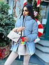Жіноча зимова подовжена куртка на блискавці з об'ємним капюшоном (р. 42-46) 8401512, фото 3
