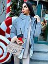 Жіноча зимова подовжена куртка на блискавці з об'ємним капюшоном (р. 42-46) 8401512, фото 5