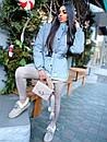 Жіноча зимова подовжена куртка на блискавці з об'ємним капюшоном (р. 42-46) 8401512, фото 7