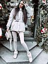 Жіноча зимова подовжена куртка на блискавці з об'ємним капюшоном (р. 42-46) 8401512, фото 8