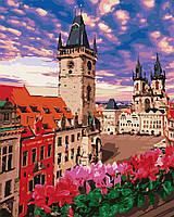 Картина рисование по номерам Идейка Терраса в Праге KH3574 40х50 см Сооружения, дома, городской пейзаж набор
