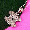 Кулон Шанель серебро 925 - Серебряный кулон Шанель - Подвеска Шанель серебро, фото 3