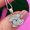 Кулон Шанель серебро 925 - Серебряный кулон Шанель - Подвеска Шанель серебро, фото 2